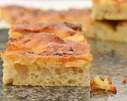 anchovy, onion & garlic focaccia