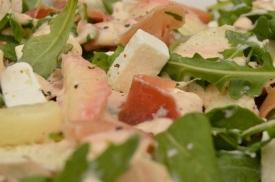 Chicken, peach & Feta salad