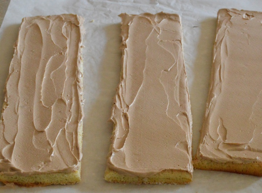 buttercream spread over and cut into strips
