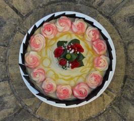 Lemon & dark chocolate cake