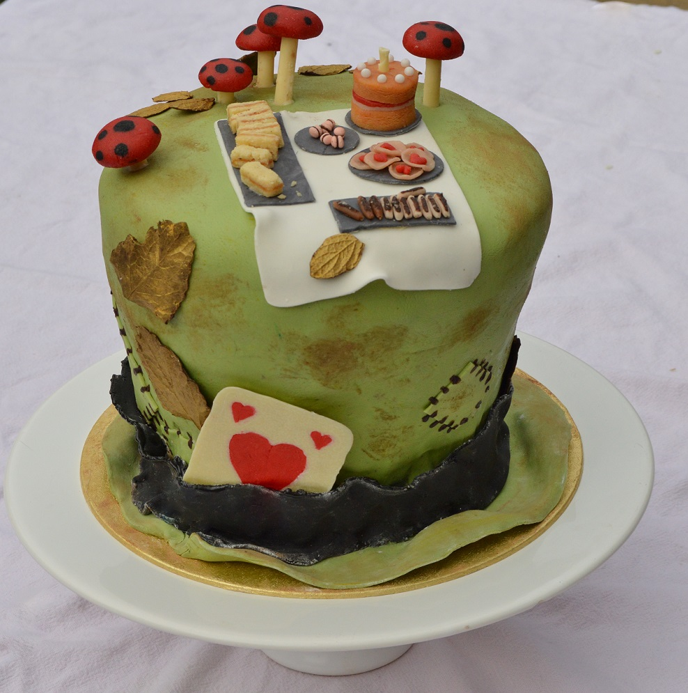 Mad Hatter's Tea Party Cake: chocolate cake with Earl Grey teabuttercream