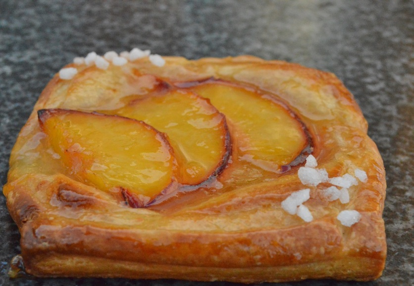 Easy peach danish pastries
