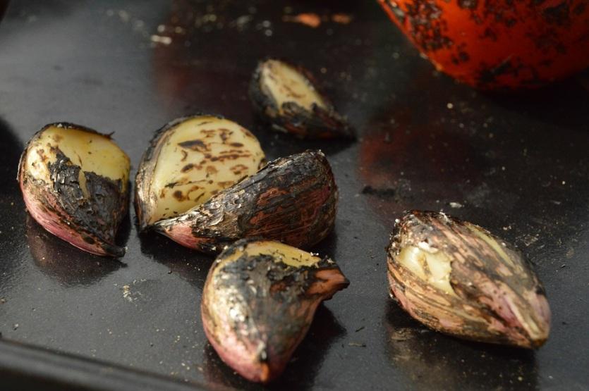 blowtorched garlic