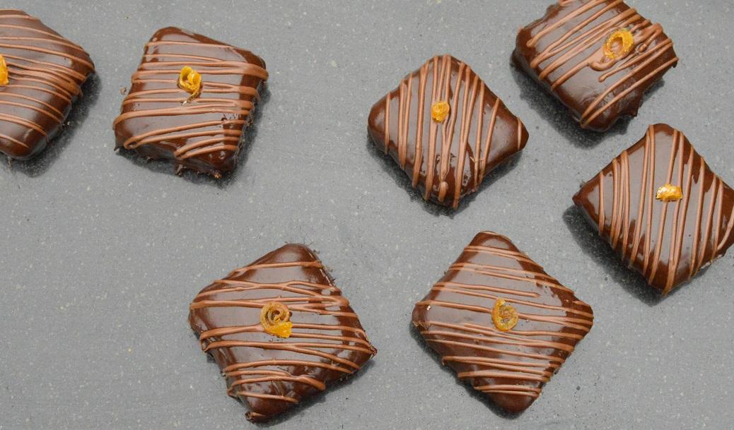 Square Jaffa Cakesbites