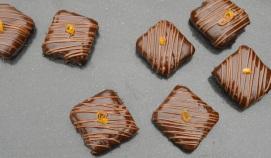 Home-made jaffa cakes