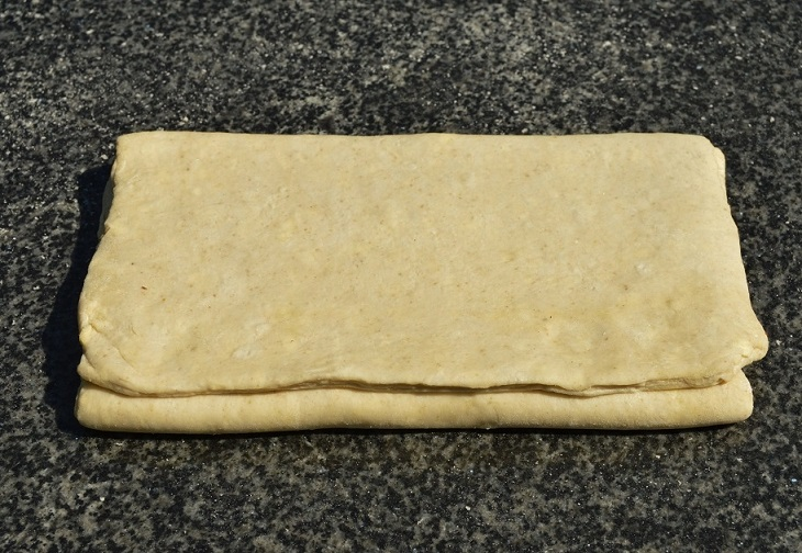 Mustard rough-puff pastry