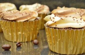 Intense roasted coffee cupcakes