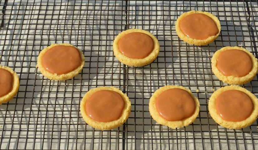 salted caramel shortbreads: ready to drench in chocolate