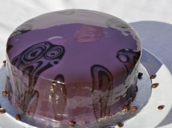 """Purple Rain"" coffee & rum cake"