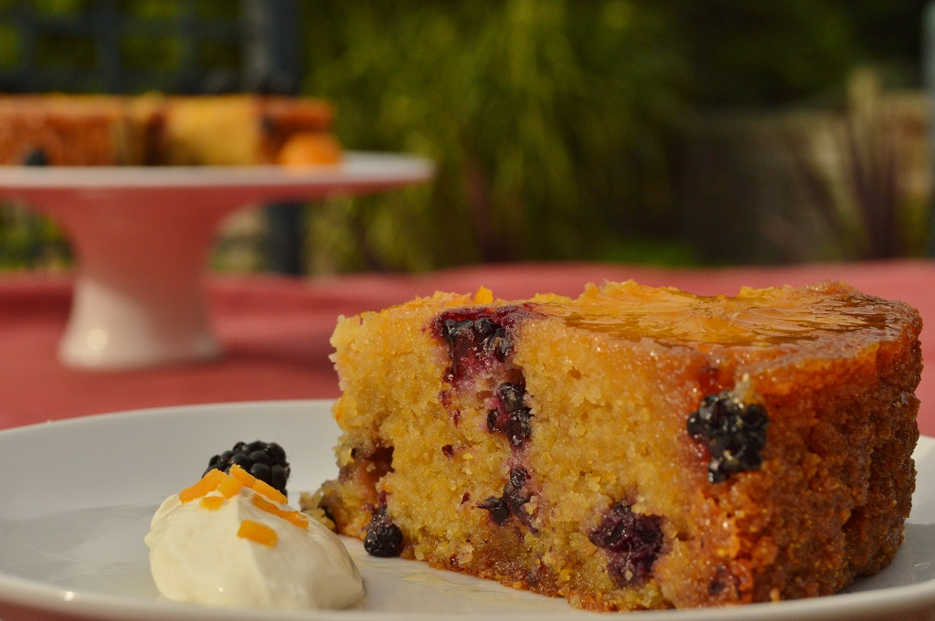 Gluten-free orange & blackberry polenta cake: Macmillan's World's Biggest Coffee Morning