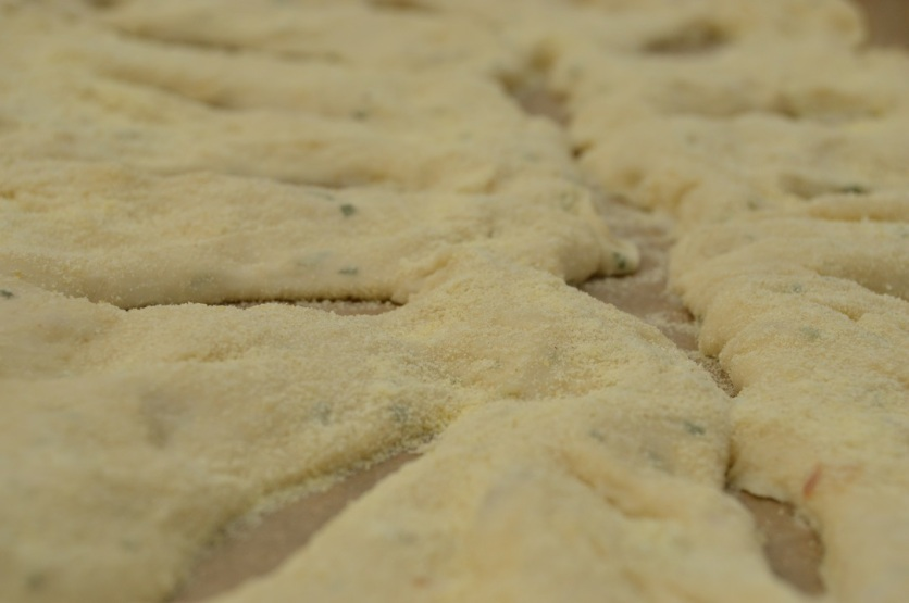 Rosemary & garlic fougasse dough: aerated and full of flavour