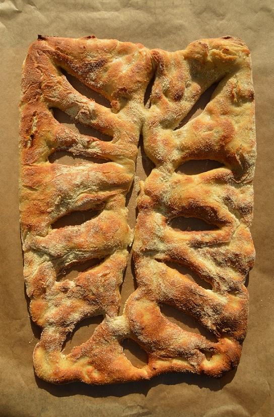 Rosemary & garlic fougasse