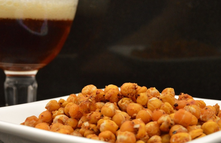 Spiced crunchy chickpeas
