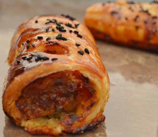 Herby sausage rolls