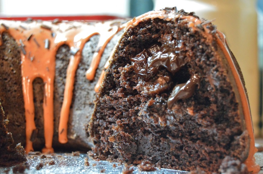 Spiced chocolate & orange bundt cake