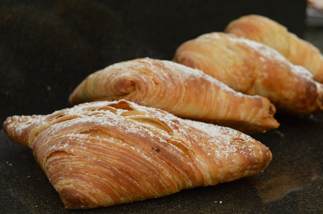 Sfogliatella pastries with a honey, orange & pistachio filling