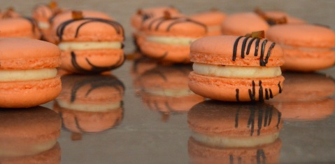 Bitter orange macarons