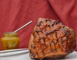 ham with chilli, marmalade and rum glaze