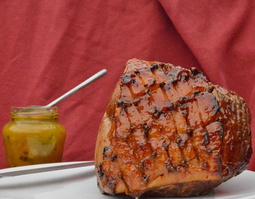 ham with chilli, marmalade and rum glaze
