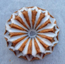 Spiced lime & poppy seed bundt drizzle cake