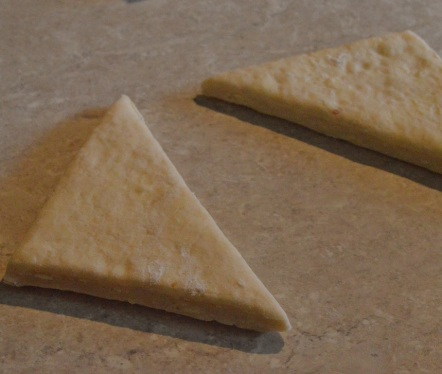 cut into triangles