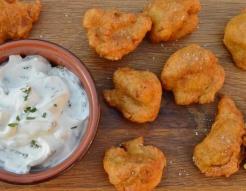 spiced cauliflower fritters