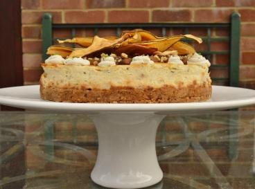 Gorgonzola, pear & walnut cheesecake