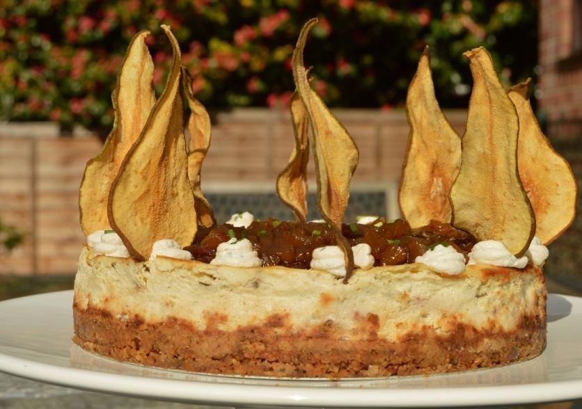 Used on a savoury Gorgonzola, pear & walnut cheesecake
