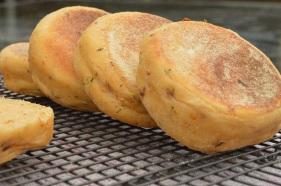 Tomato and basil English muffins