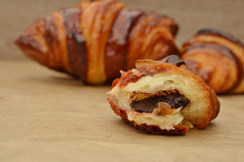 bi-colour chocolate and orange croissants