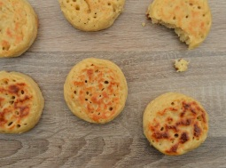 cheese & onion crumpets