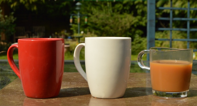 Sweeter in red? Some of our tasting mugs...