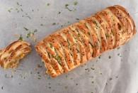 Chicken, chorizo and sweetcorn plaited tart