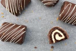 chocolate & orange mini rolls