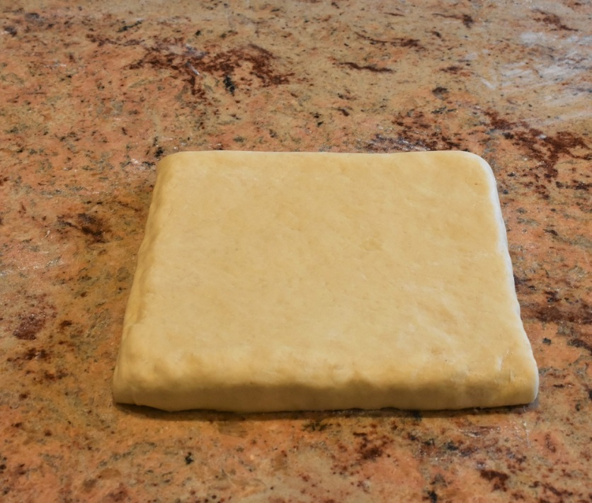 butter encased in the dough - ready for rolling out