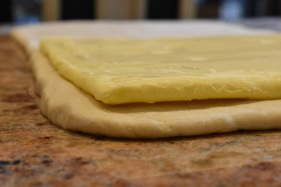 thin butter layer in place