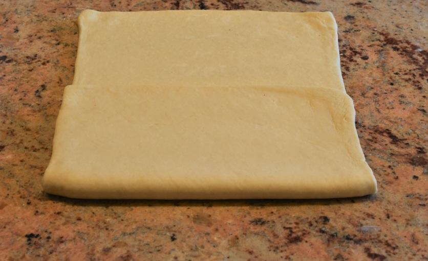 Envelope turn: fold bottom third up