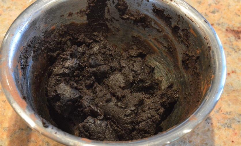 a thick cocoa paste