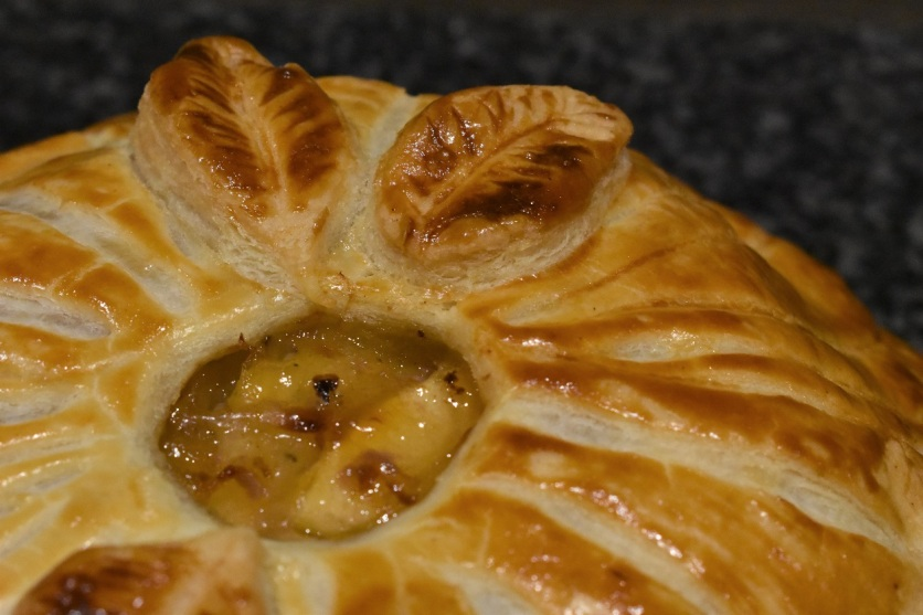 layered pork pithivier pie