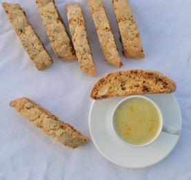 Cranberry, orange & fennel seed biscotti