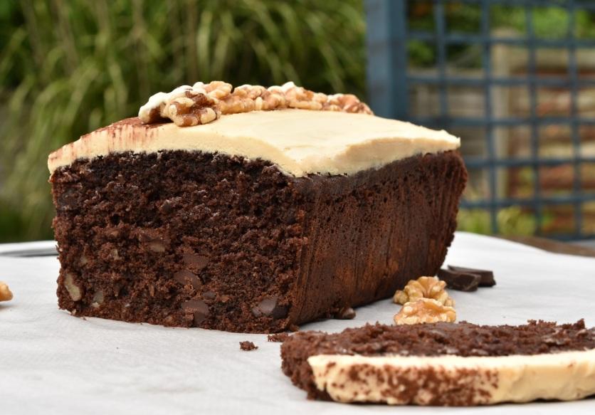mocha walnut loaf cake