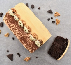 mocha walnut loaf cake