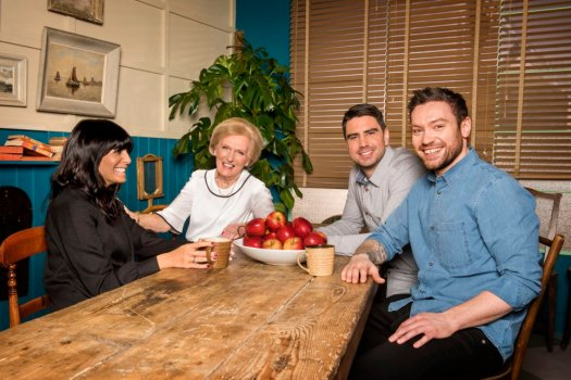 Britain's Best Home Cook: the judges with Claudia Winkleman (presenter)