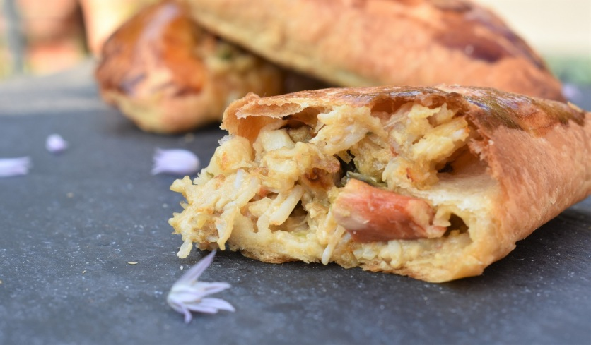 crab and asparagus pasties: bursting with flavour!