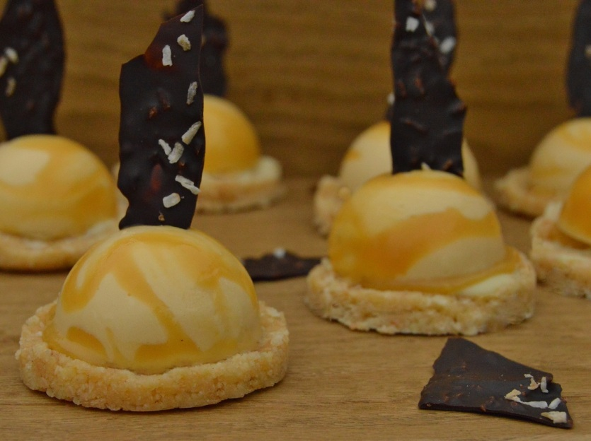 orange & coconut dessert domes