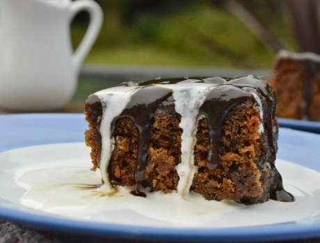 Tamarind and ginger sticky toffee pudding