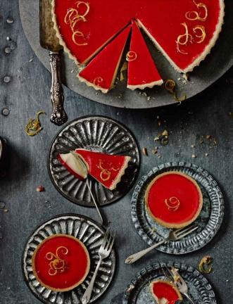Lemon & raspberry tarts: Sainsbury's Magazine