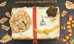 Harry Potter Spell Book birthday cake