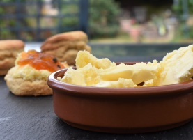 home-made lemongrass clotted cream