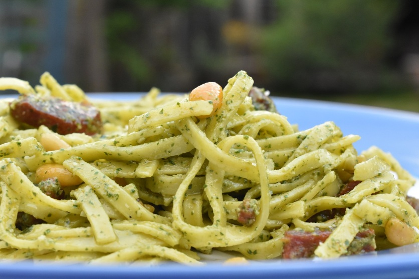 pasta with wild rocket pesto